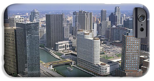 Il iPhone Cases - Chicago River Chicago Il iPhone Case by Panoramic Images