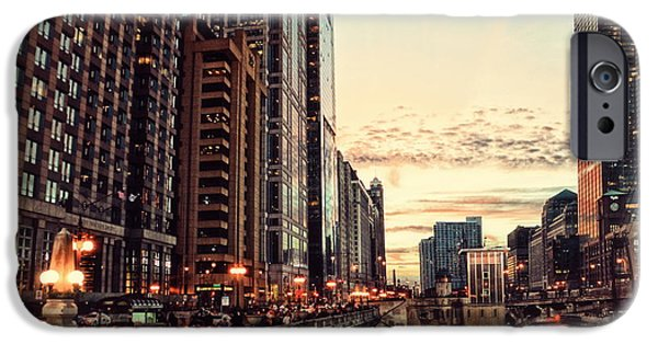 Chicago Cubs Mixed Media iPhone Cases - Chicago River November HDR iPhone Case by Thomas Woolworth