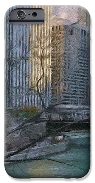 Chicago River Sunset iPhone Case by Jeff Kolker