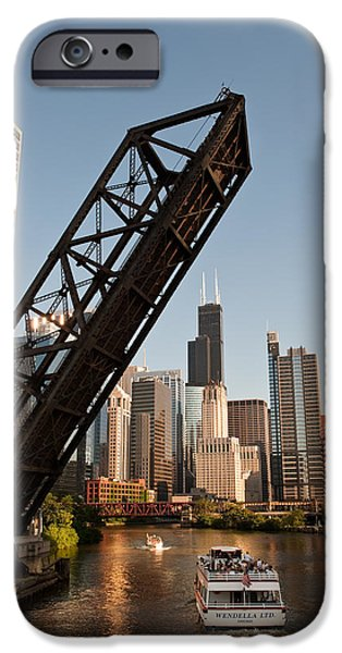 Sears Tower iPhone Cases - Chicago River Traffic iPhone Case by Steve Gadomski