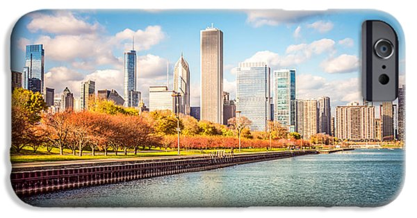 Chicago iPhone Cases - Chicago Skyline and Lake Michigan Photo iPhone Case by Paul Velgos