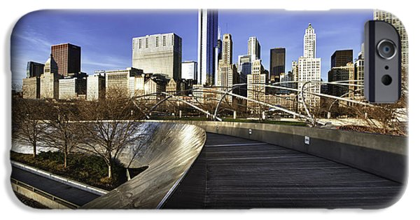 Chicago iPhone Cases - Chicago Skyline at Sunrise iPhone Case by Sebastian Musial