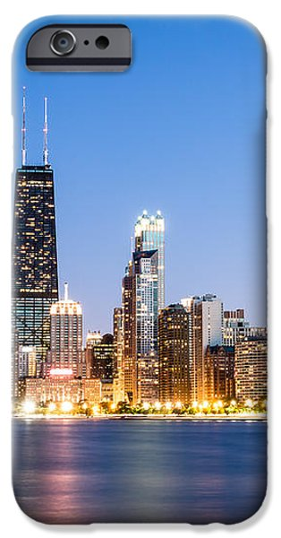 Chicago Skyline at Twilight iPhone Case by Paul Velgos