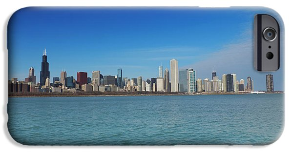 Chicago iPhone Cases - Chicago Skyline from Adler Planetarium iPhone Case by Cityscape Photography