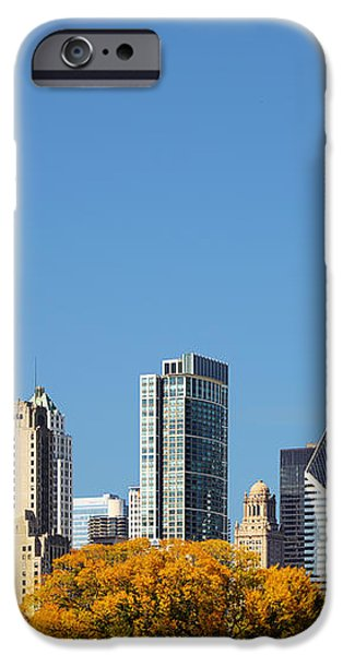 Chicago skyline from Millenium Park III iPhone Case by Christine Till