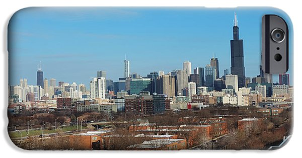 Willis Tower iPhone Cases - Chicago Skyline from Rush University iPhone Case by Cityscape Photography
