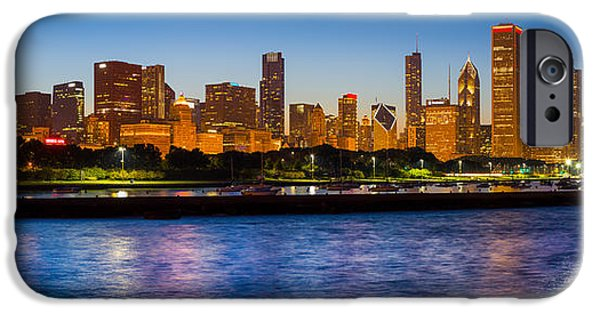 Windy City iPhone Cases - Chicago Skyline iPhone Case by Inge Johnsson