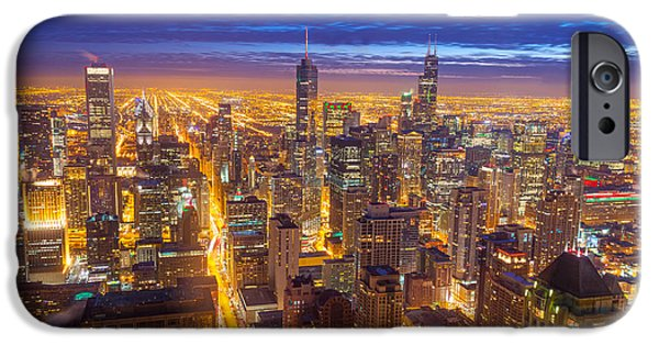 Chicago iPhone Cases - Chicago Skyline iPhone Case by Jess Kraft