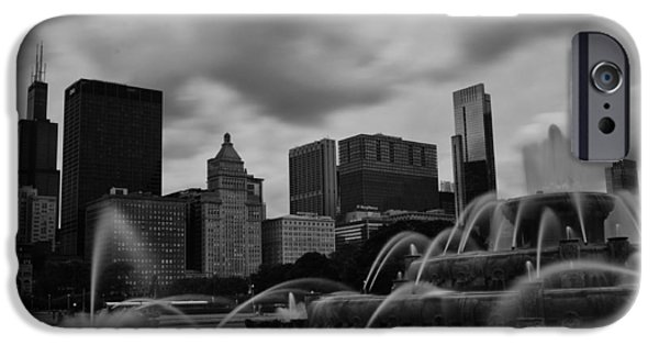 Willis Tower iPhone Cases - Chicago City Skyline iPhone Case by Miguel Winterpacht