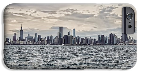 Built Structure iPhone Cases - Chicago Skyline iPhone Case by Phyllis Taylor