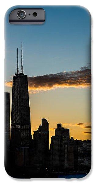 Chicago Skyline Silhouette iPhone Case by Steve Gadomski