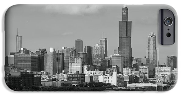 Willis Tower iPhone Cases - Chicago skyline summer iPhone Case by Michael Paskvan