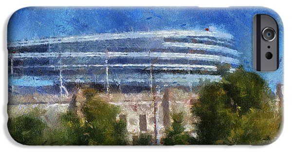 Soldier Field Digital Art iPhone Cases - Chicago Soldiers Field Photo Art iPhone Case by Thomas Woolworth