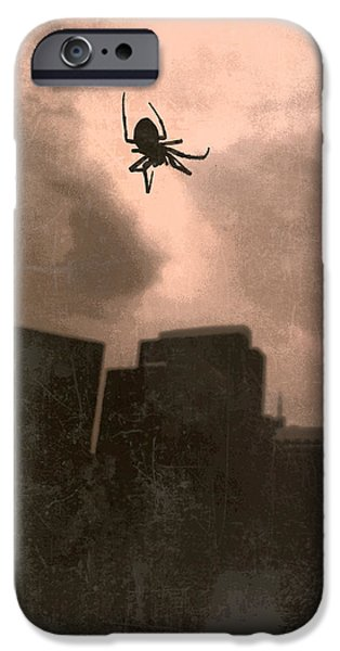 Willis Tower iPhone Cases - Chicago Spider iPhone Case by Bob Gruber