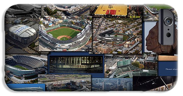 Wrigley Field iPhone Cases - Chicago Sports Collage iPhone Case by Thomas Woolworth