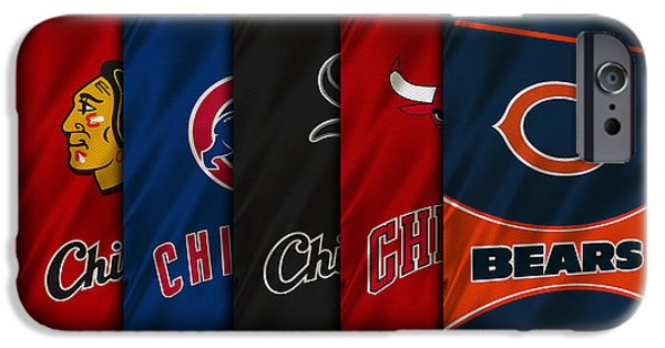 Uniform iPhone Cases - Chicago Sports Teams iPhone Case by Joe Hamilton