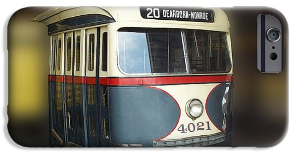 Central Il iPhone Cases - Chicago Street Car 20 iPhone Case by Thomas Woolworth