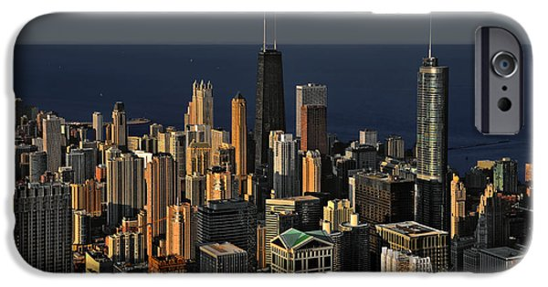 Interior Scene iPhone Cases - Chicago - That famous skyline iPhone Case by Christine Till
