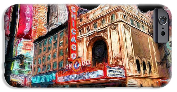 Ely Arsha iPhone Cases - Chicago Theater - 23 iPhone Case by Ely Arsha