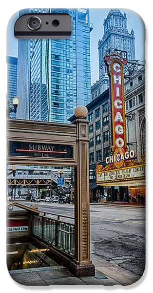 Recently Sold -  - Buildings iPhone Cases - Chicago Theater iPhone Case by Mike Burgquist