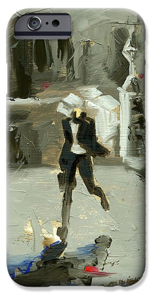 Chicago Paintings iPhone Cases - Chicago Three iPhone Case by Luis  Navarro