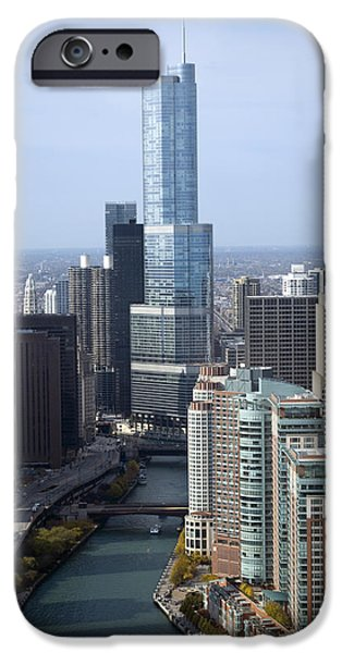Central Il iPhone Cases - Chicago Trump Tower iPhone Case by Thomas Woolworth