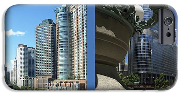 Business Digital iPhone Cases - Chicago Trump Tower Under Const 2 Panel iPhone Case by Thomas Woolworth