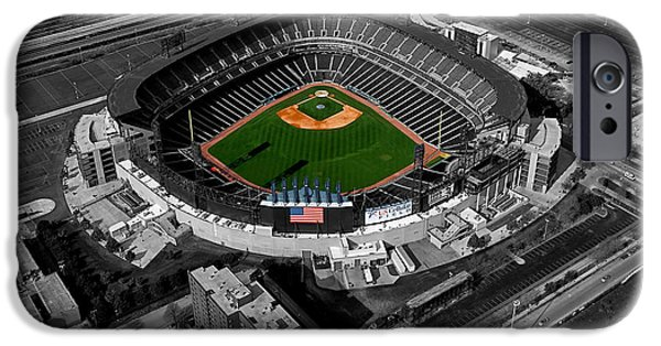 Cellular Mixed Media iPhone Cases - Chicago US Cellular Field SC iPhone Case by Thomas Woolworth