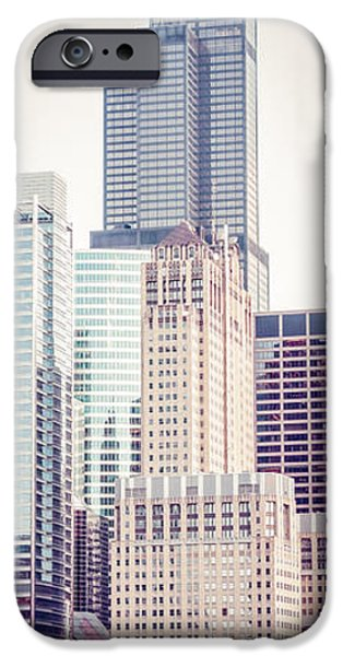 Chicago iPhone Cases - Chicago Vertical Panorama of Sears Willis Tower iPhone Case by Paul Velgos