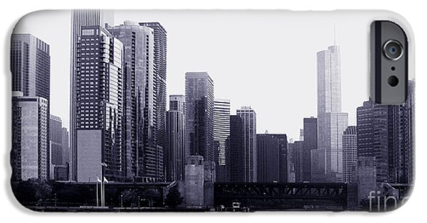 Transportation Tapestries - Textiles iPhone Cases - Chicago view1 iPhone Case by Gloria Yanez
