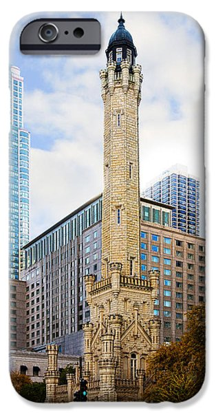 Sears Tower iPhone Cases - Chicago Water Tower iPhone Case by Cindy Tiefenbrunn