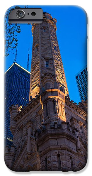 Chicago Water Tower Panorama iPhone Case by Steve Gadomski