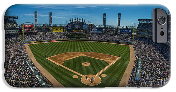 Chicago Cubs iPhone Cases - Chicago White Sox Pano 1 iPhone Case by David Haskett