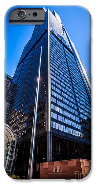 Sears Tower iPhone Cases - Chicago Willis Sears Tower High Resolution Picture iPhone Case by Paul Velgos