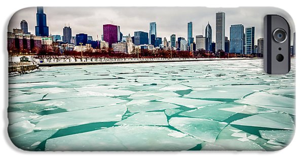 Willis Tower iPhone Cases - Chicago Winter Skyline iPhone Case by Paul Velgos