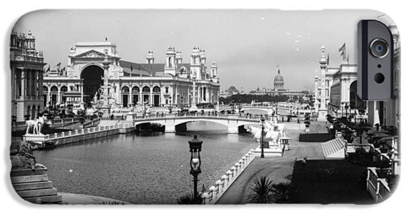 Machinery iPhone Cases - Chicago Worlds Columbian Exposition 1893 iPhone Case by Historic Photos