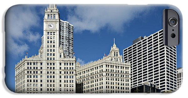Wrigley iPhone Cases - Chicago - Wrigley Building iPhone Case by Christine Till
