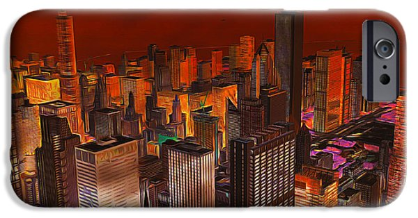 Willis Tower iPhone Cases - Chicagos Gotham iPhone Case by Larry Espinoza