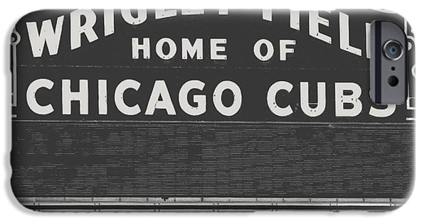 Wrigley iPhone Cases - Chicagos Wrigley Field iPhone Case by Emily Enz