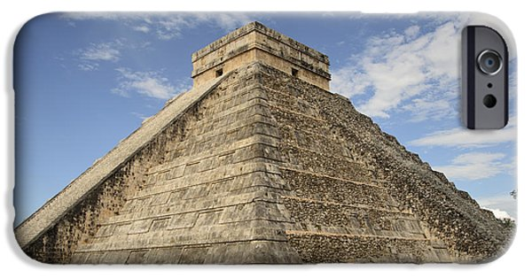 Ruin Pyrography iPhone Cases - Chichen Itza iPhone Case by Yoshiko Wootten