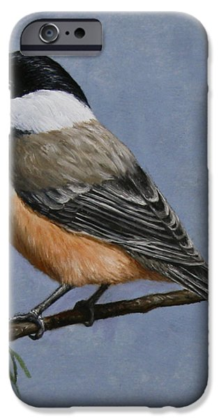 Chickadee Charm iPhone Case by Crista Forest