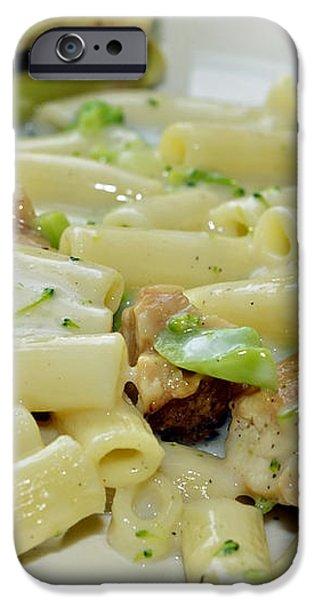 Chicken Alfredo Meal iPhone Case by Susan Leggett