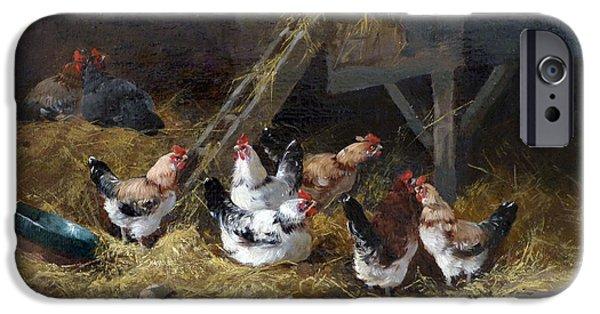 Barnyard iPhone Cases - Chicken Coop Circa 1880 iPhone Case by David Lloyd Glover