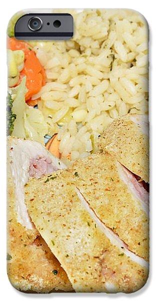 Chicken Cordon Blue  iPhone Case by Susan Leggett