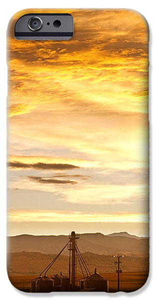 Chicken Farm Sunset 1 iPhone Case by James BO  Insogna