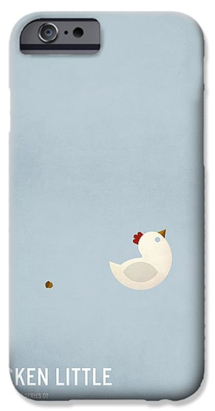 Child Digital iPhone Cases - Chicken Little iPhone Case by Christian Jackson