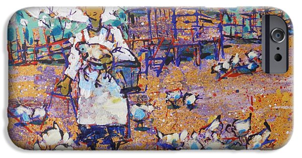 Feed Drawings iPhone Cases - Chicken Scratch iPhone Case by Larry Lerew