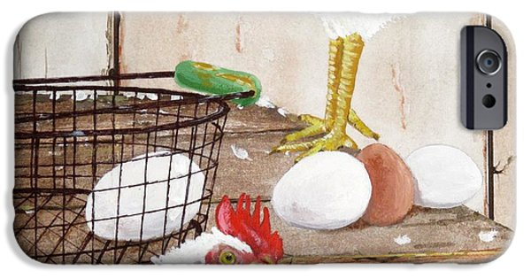 Basket iPhone Cases - Chicken Shift iPhone Case by Michael Dillon