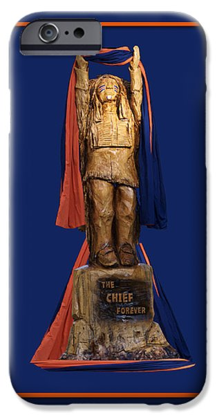 Central Il iPhone Cases - Chief Illiniwek University of Illinois 05 iPhone Case by Thomas Woolworth
