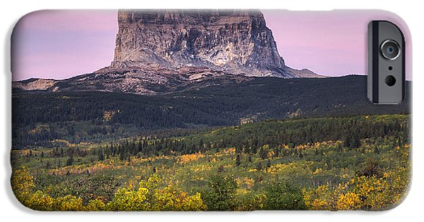 Beauty Mark iPhone Cases - Chief Mountain Sunrise iPhone Case by Mark Kiver